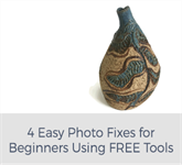 4 Easy Photo Fixes for Beginners Using FREE Tools