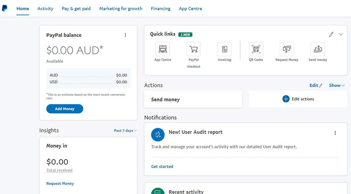 PayPal's dashboard is easier to use, although less informative than their competitor, Stripe.