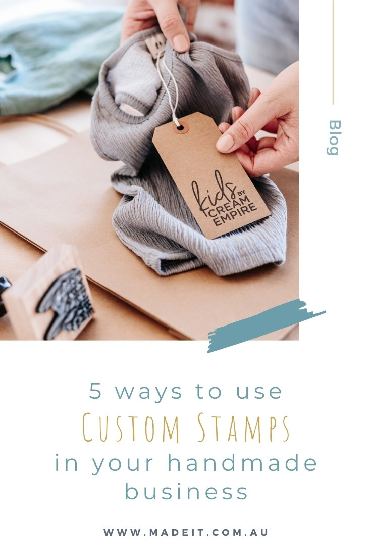 Rubber stamps are an incredibly versatile and affordable tool for customising almost anything – making them particularly useful for small businesses with tight budgets. Here are 5 ways to use custom stamps in your handmade business.