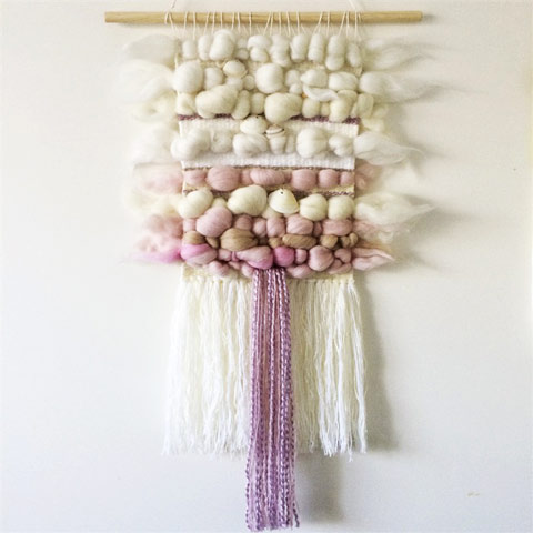 Hand-woven wall-hanging