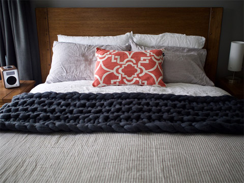 'Chunky Monkey' merino wool blanket by Abbey st. Claire