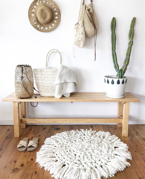 The Little Dreamcatcher merino wool crochet rug by Chunky Knits by Jo