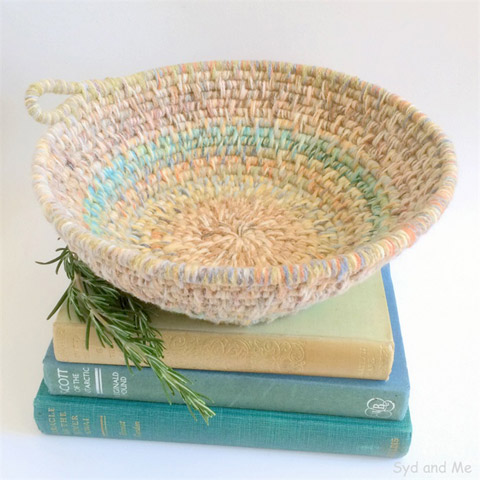 Hand-woven basket by Syd and Me