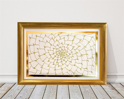 Original 'Gold Lotus' artwork by Karen Lund Designs