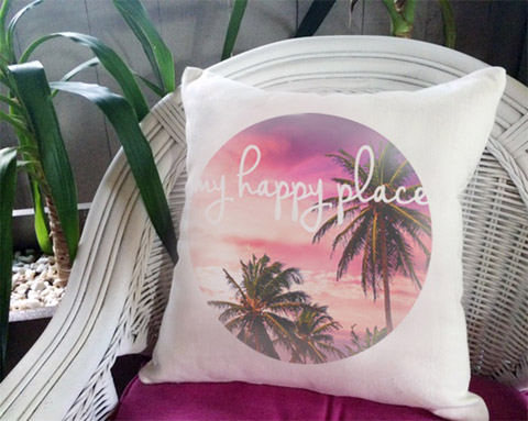 'my happy place' Cushion cover by Trending Decor