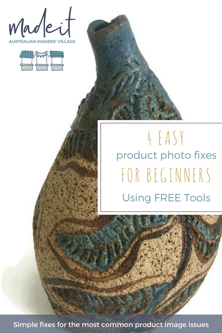 4 common problems with handmade product images and how to use free tools to fix
