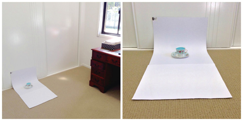 Photography Bootcamp: A Journey to Product Photos that Rock! The sweet sweep setup.