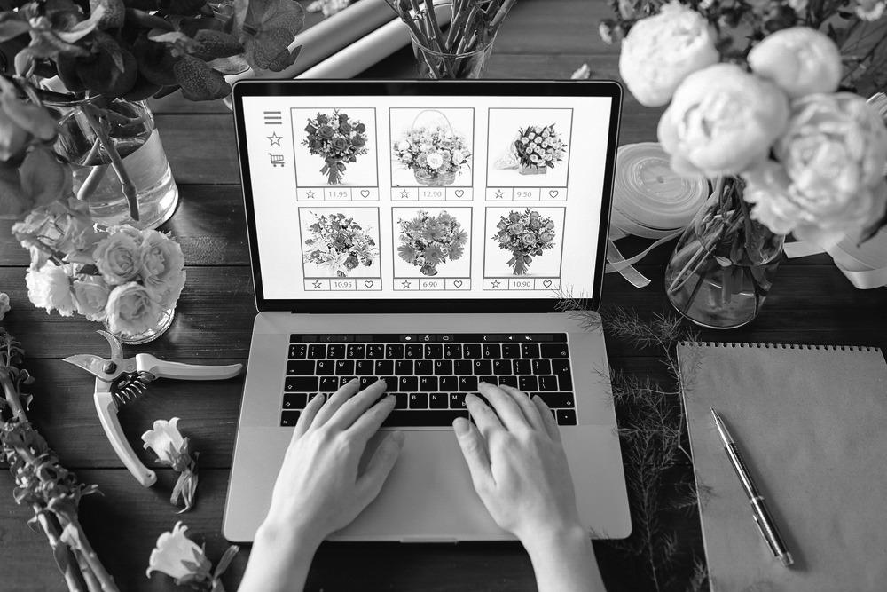 A florist updating their website