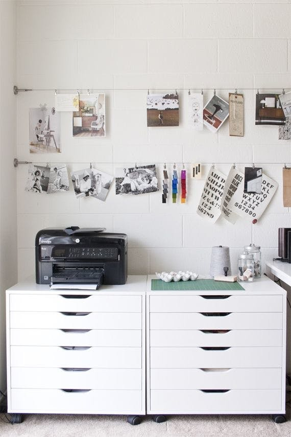 IKEA Hack: diy art gallery wall using curtain wire