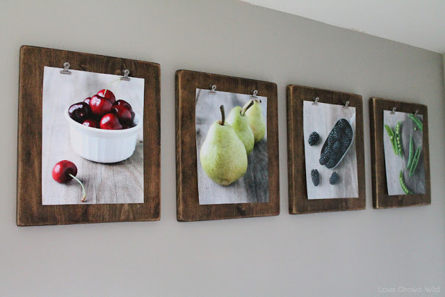 Make your own rustic clipboard art display