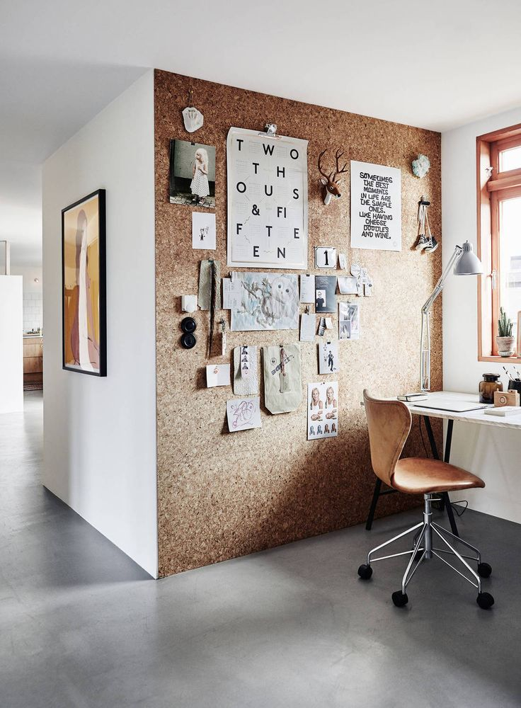 Turn your walls into a cork pin-board art display
