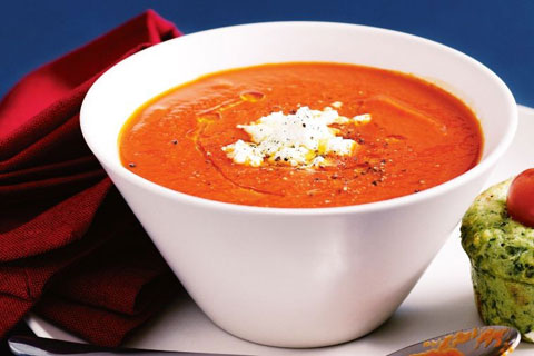 Roast Capsicum and Tomato Soup