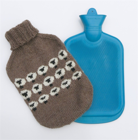 "Hot water bottle cover by Sam and Charlie Designs"" style="