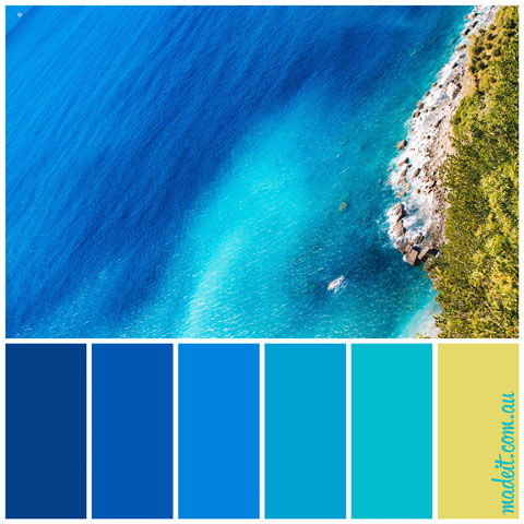 Colour Schemes for Summer Feels.  Don't you just want to dive in?.