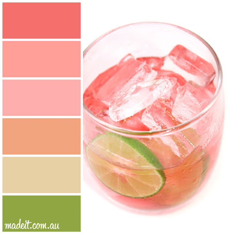Colour Schemes for Summer Feels. Oh this looks so refreshing!