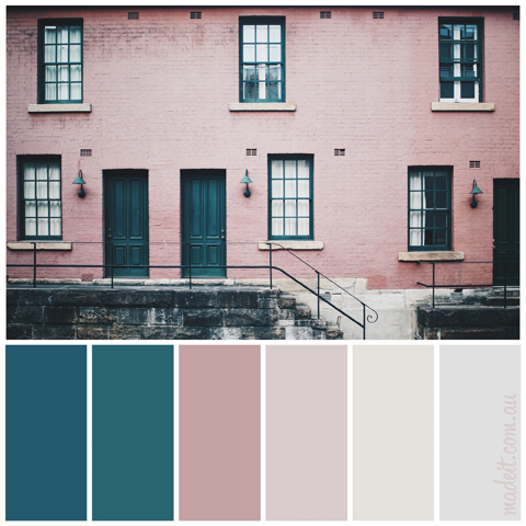 Pretty Pastel Palettes for a Dreamy Festive Feel:  Venturing out of pastels slightly.