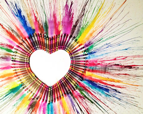 Crayon Art Heart