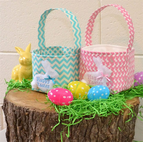 Embroidered Easter Baskets
