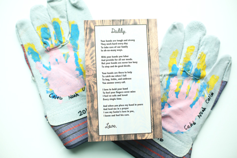 Creative Father's Day Ideas: Personalised Work Gloves