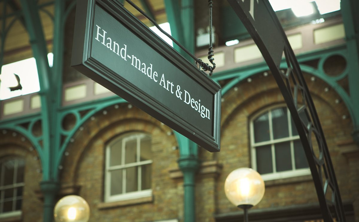 Hand-made Art and Design sign