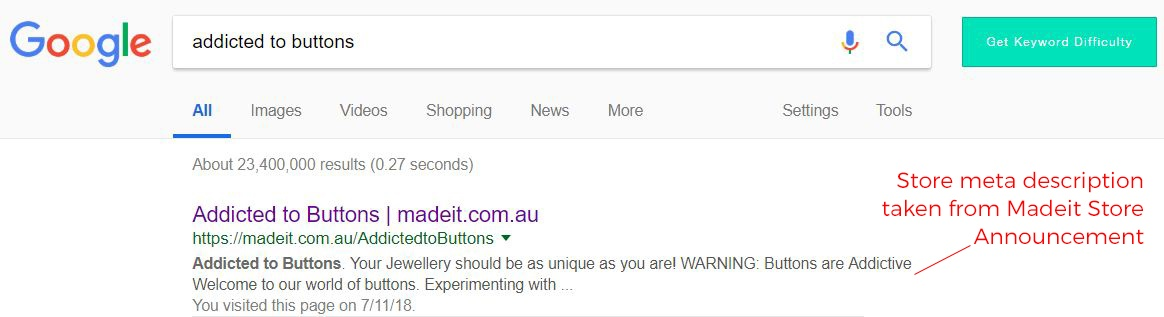 Anatomy of a Google search result: how to write effective meta descriptions  for your online handmade store