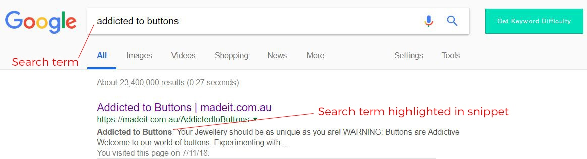 Anatomy of a Google search result: optimising your handmade product descriptions to include keywords