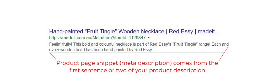Anatomy of a Google search result: optimising your handmade product descriptions to encourage click-through from search results