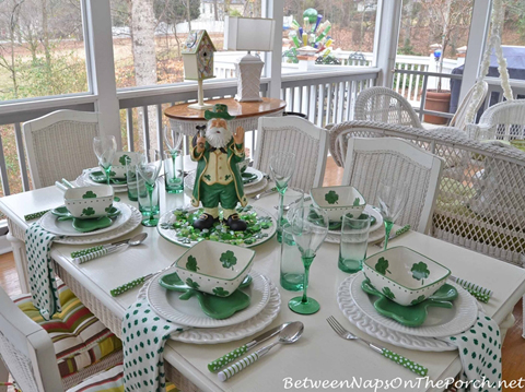 Elegant St Patrick's Day Table Setting