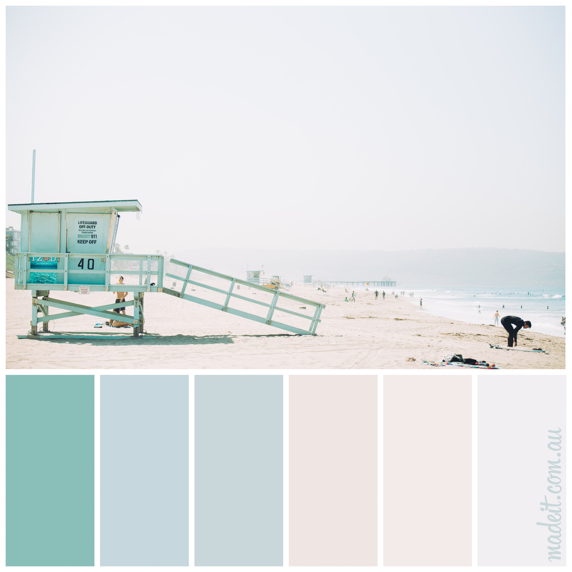 Coastal colour inspiration: mint green lifesaving lookout