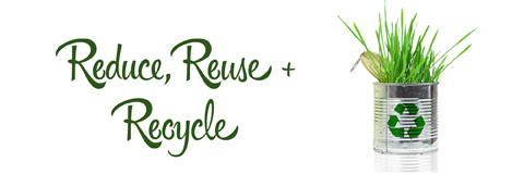 The Three R's: Live more sustainably with some small lifestyle changes