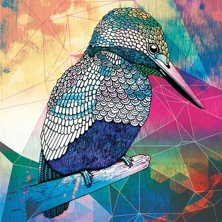 DrawstringHandmade kookaburra art print