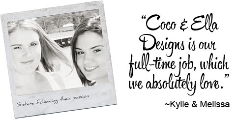 Kylie and Melissa from Coco & Ella Designs