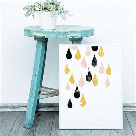 Raindrops are Falling Print