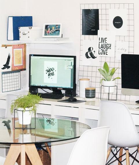 Kylie's workspace
