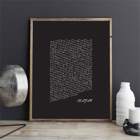 Wedding Vows Keepsake Print