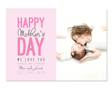 Mother's Day Custom Photo Card