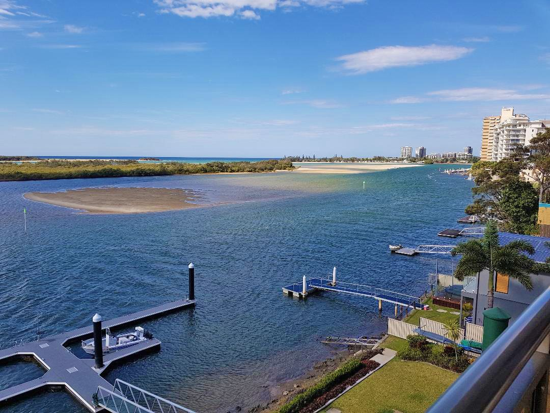Julie's view from the balcony of her Sunshine Coast home