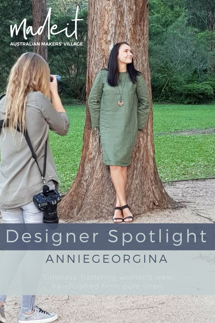 Julie designs and creates timeless, flattering fashion pieces for women from 100% pure linen.