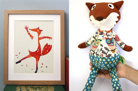 Aurore's illustrations and toys