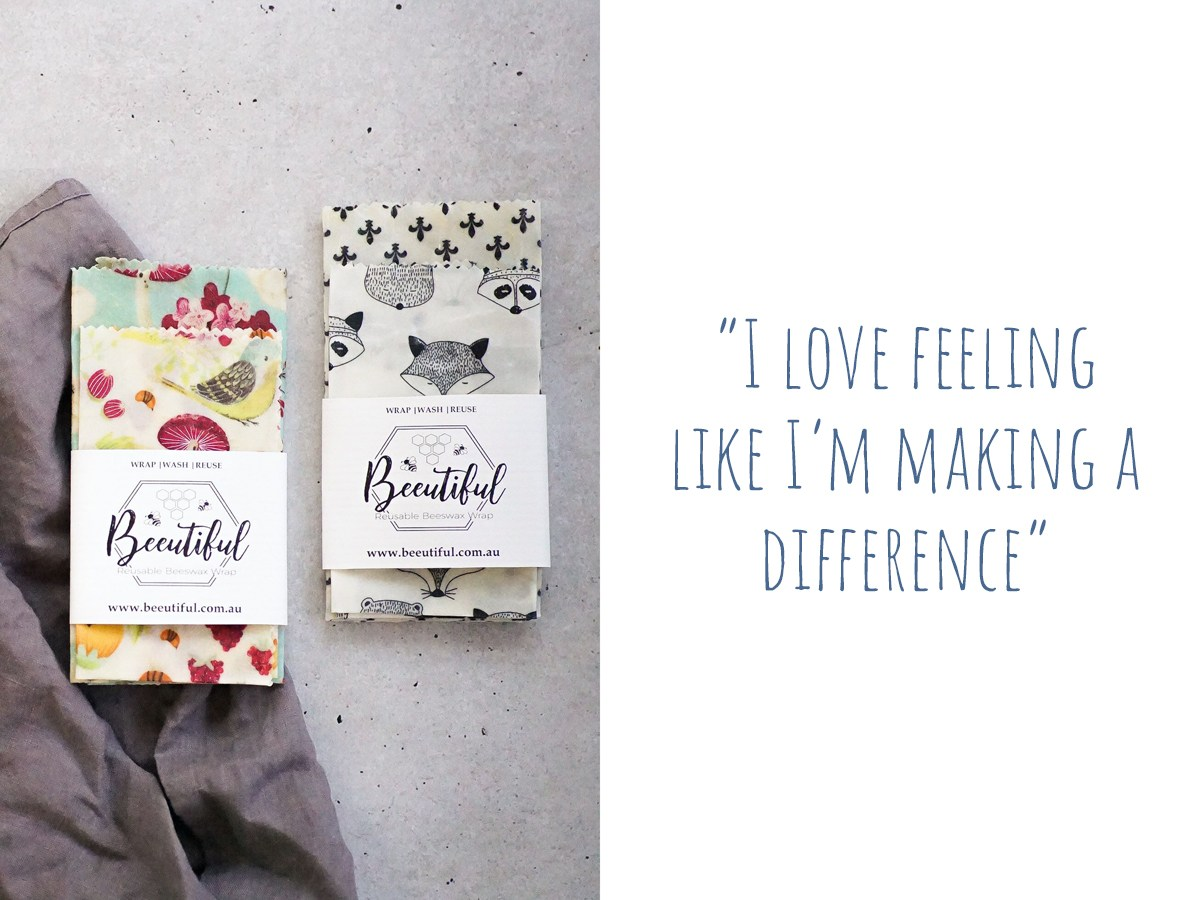 "Packs of colourful and monochrome beeswax eco-wraps:""I love feeling like I'm making a difference"""""