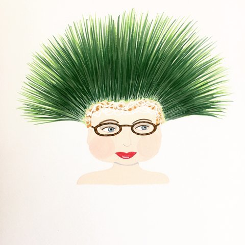 Grass Haired Woman