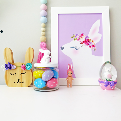 Made It Designer Spotlight: Fairydust Stylish Stationery lilac bunny print