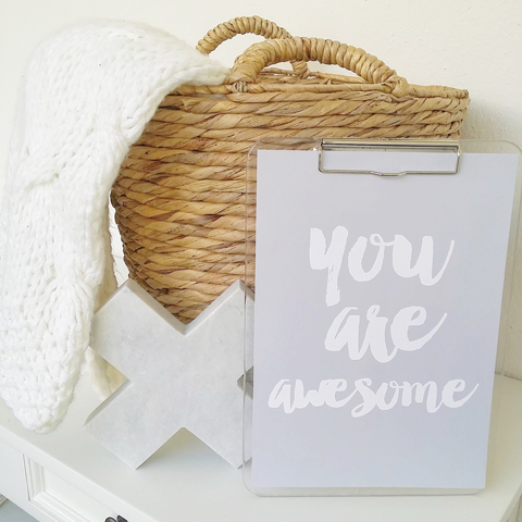 Made It Designer Spotlight: Fairydust Stylish Stationery you are awesome print