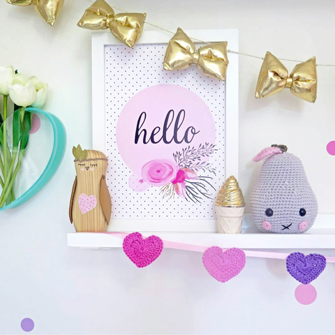 Made It Designer Spotlight: Fairydust Stylish Stationery pretty pinks & polka dots print