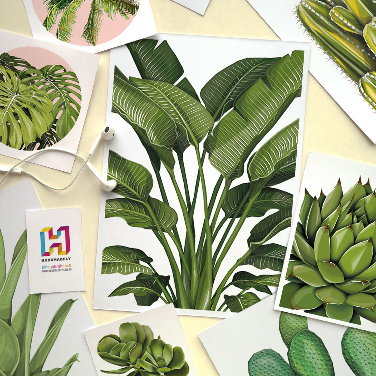 Samples of Handmadely Plant Prints