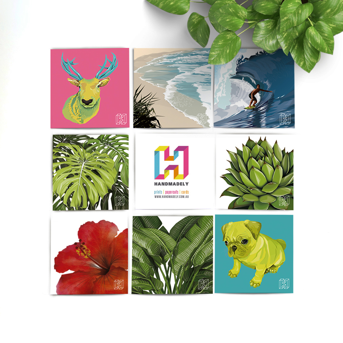 An array of Handmadely artprints
