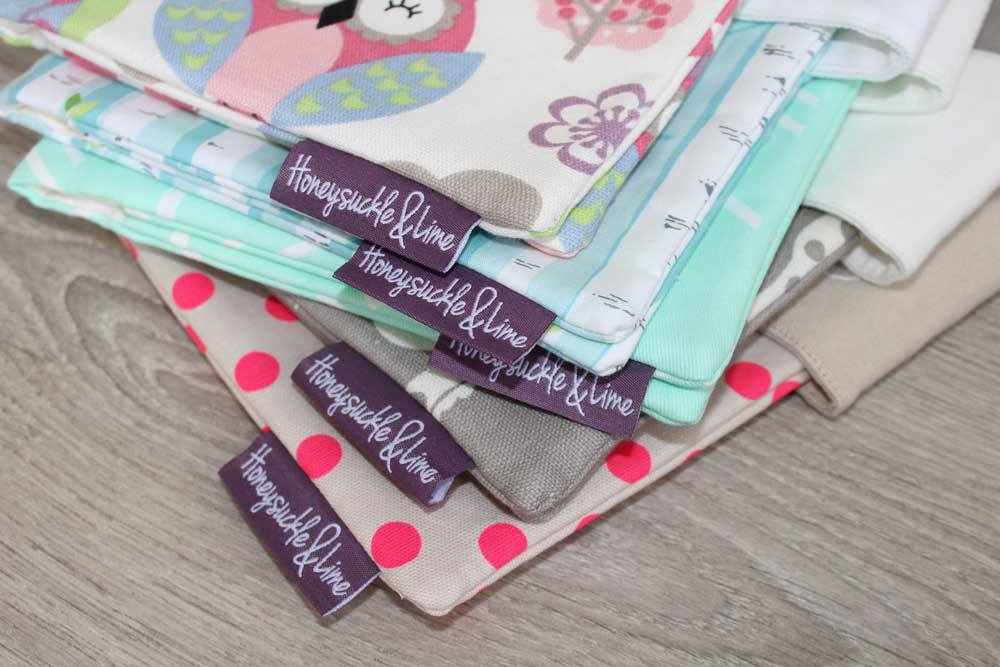 Personalised Nappy Wallet stack