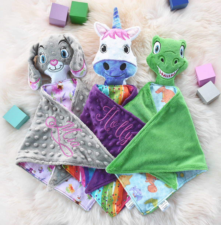 Custom 'Ruggybud' comforter toys