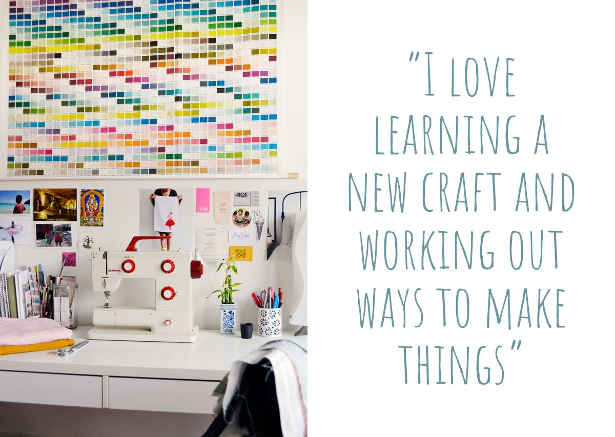 "little miss gee, creative space: ""I love learning a new craft and working out ways to make things."""