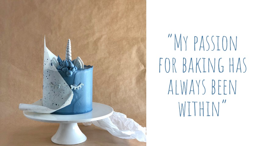 Sleeping blue unicorn designer cake by Miller and Blue: 'My passion for baking has always been within'.